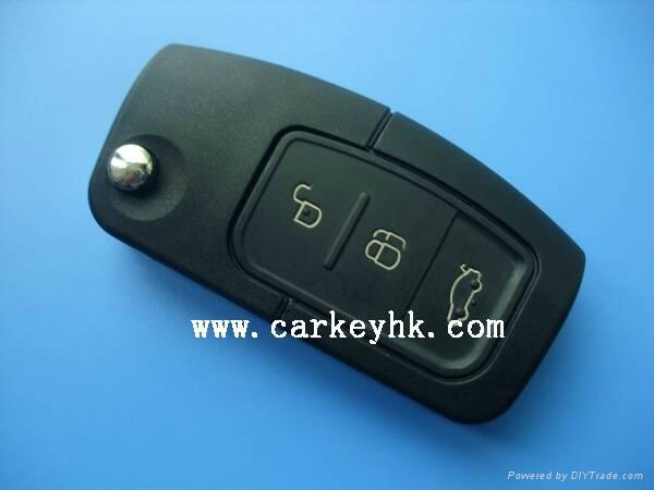 High quality Ford Focus remote key shell 3 buttons blank case car key for ford 3
