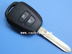 Toyota 2 buttons remote key shell toy43 blank case cover housing