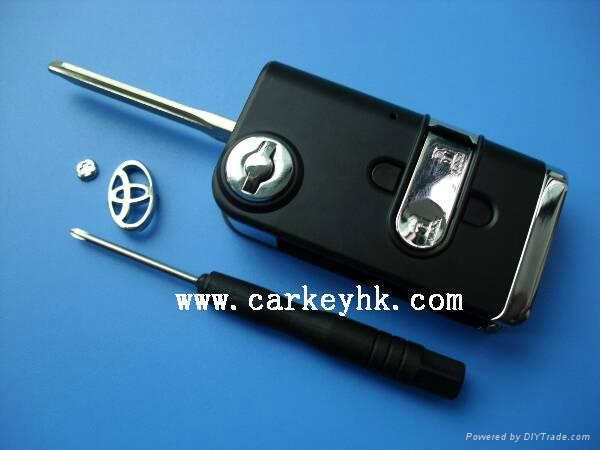 New style toyota flip modified remote key shell Toy43 blade blank case cover 1