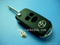 Toyota Corolla Vios 3 buttons flip modified remote key shell blank case cover