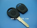 VW Jetta transponder key shell blank