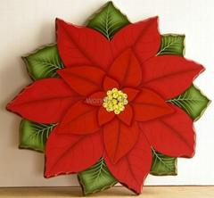 Christmas flower rotate