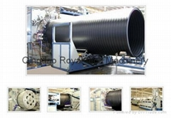 HDPE大口徑中空壁纏繞管生產線
