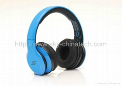 Wireless Headphones SMS Audio SYNC by 50 Cent 2012 Latest Design blue