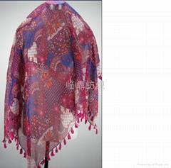 供应多种时尚流行图案印花围巾
