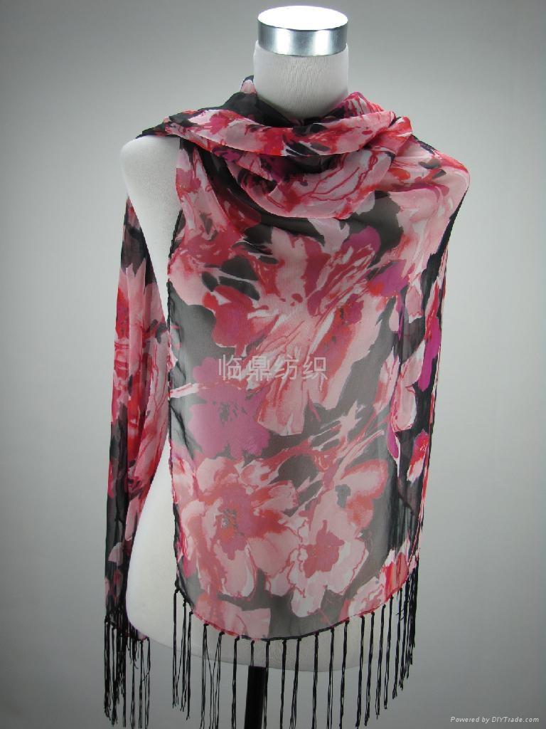 供应多种时尚流行图案印花围巾 2