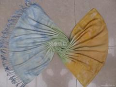 2011新款外貿手繪全人棉圍巾