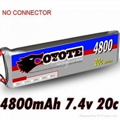 Coyote 4800mah 7.4v 20C lipo akku battery RC model