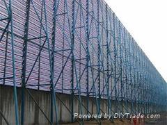 煤矿安装钢结构防风抑尘网   1