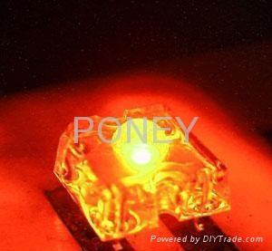 3MM食人鱼橙光发光二极管 1