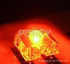 3MM食人鱼橙光发光二极管