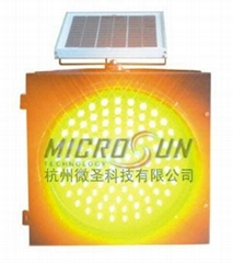 Solar Amber Warning Light