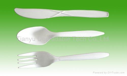 bio Degardable cutlery 1