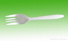 corn starch based snack Fork, cutlery