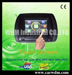 W-666 touch screen headrest DVD and monitor
