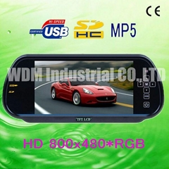 W-708HD car MP5 player/ rearview mirror monitor