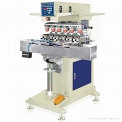 六色轉盤氣動移印機