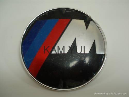 BMW M M Power Car Badge Front & Rear Emblem 82MM Badges With 2 Pins 1
