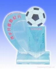 光滑的有機玻璃獎杯獎牌系列