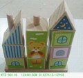 wooden toy--house building block