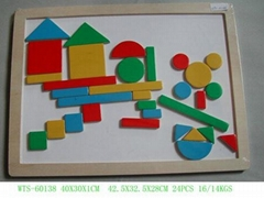 wooden toy--Geometry shape magnetic puzzle