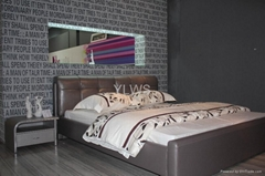 Leather bed 9097
