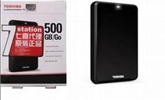 正品專櫃 Toshiba/東芝移動硬盤500G 三年包換全新