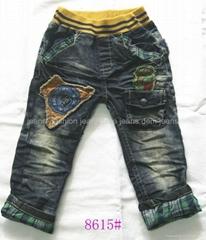 2012個熱銷售秋天時尚牛仔褲和孩子的孩子最新服裝