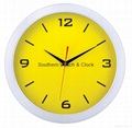 plastic art wall clock  SNT-CL045