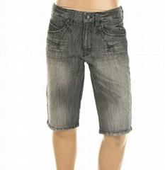 男式牛仔短裤