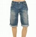 男式牛仔短褲 2