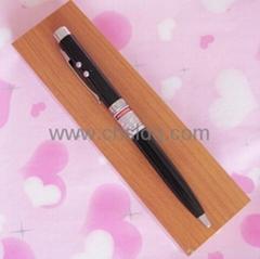 metal LED ball pen/wooden gift set,red laser pointer
