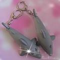 electronic gift,shark shape led sound keychain 3