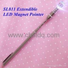 铜质拉杆磁铁LED教鞭笔