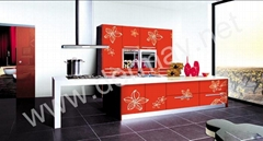 Demei UV color-painting kitchen cabinets