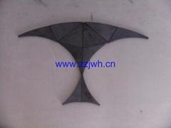 Universal liner plate for concrete pump parts