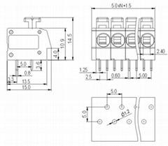 電子鎮流器接線端子(DA804)