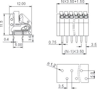 電子鎮流器接線端子(DA250) 3