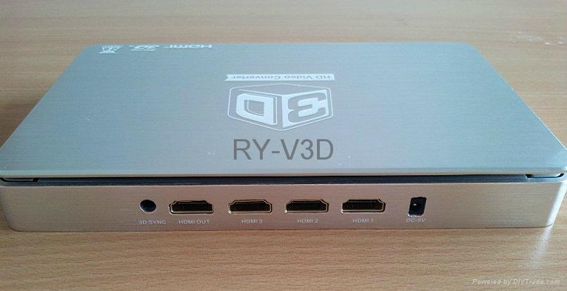 support 120HZ DLP projector 3D HD video converter 2