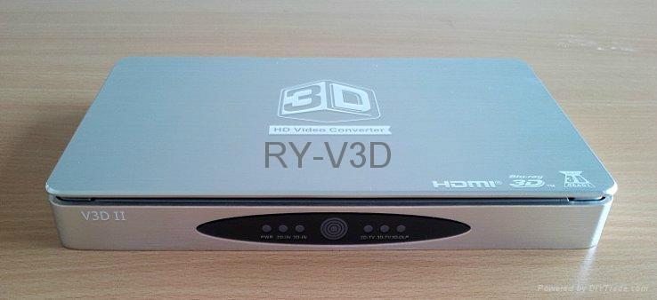 support 120HZ DLP projector 3D HD video converter 3