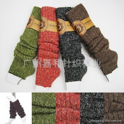 提花粗針襪套 3