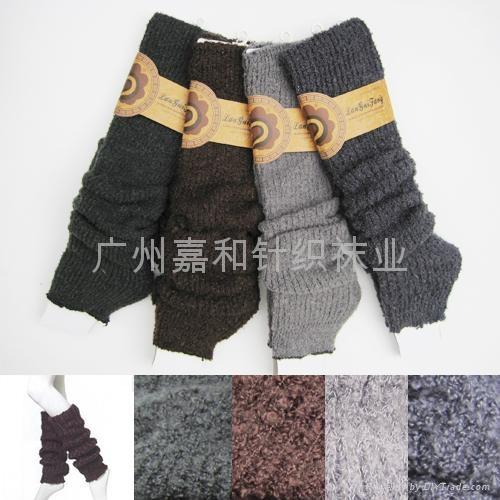 提花粗針襪套 5