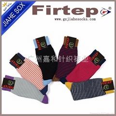 男士格子棉襪