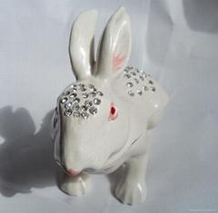 Rabbit Matel Jewelry Box