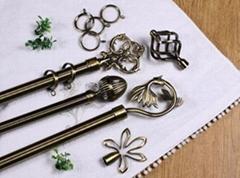 电镀青古铜金属窗帘杆