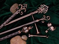 Antique Copper Metal Curtain Rod