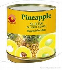真正原装泰国进口糖水菠萝圆片