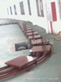 Foam production conveyor line water heater