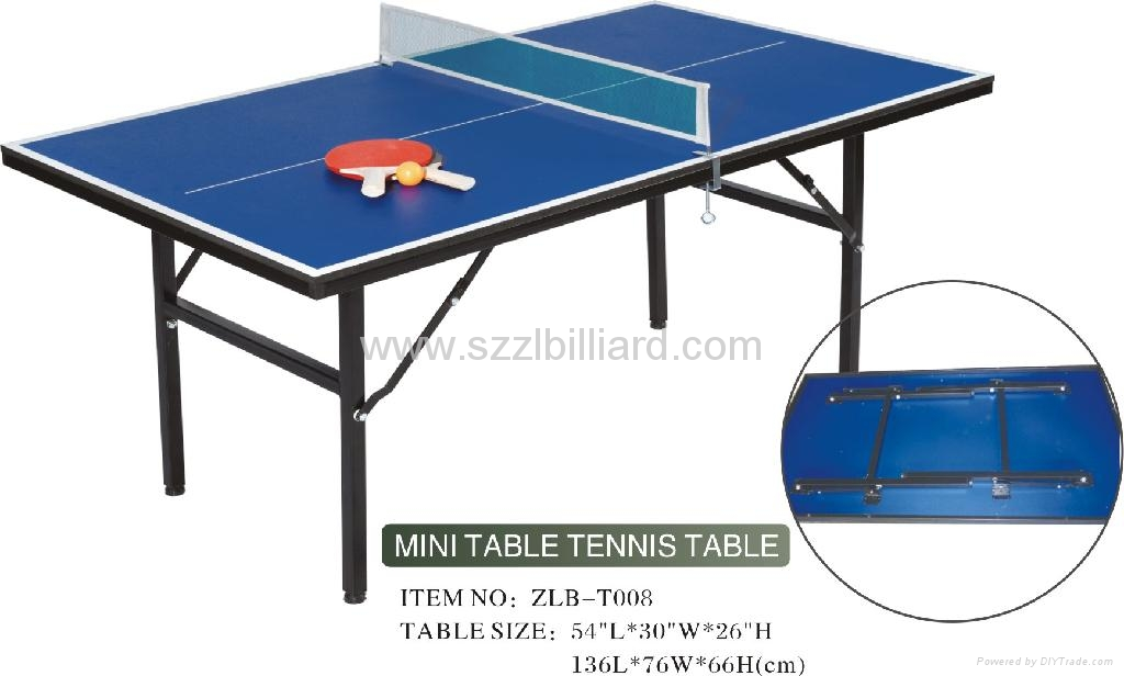 Standard international mini table tennis table zlb t002 - Table tennis table size and specifications ...