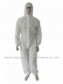 PP white Coverall with Hood